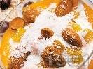 Рецепта Желиран сметанов крем със сушени плодове - кайсии, бадеми и стафиди за десерт